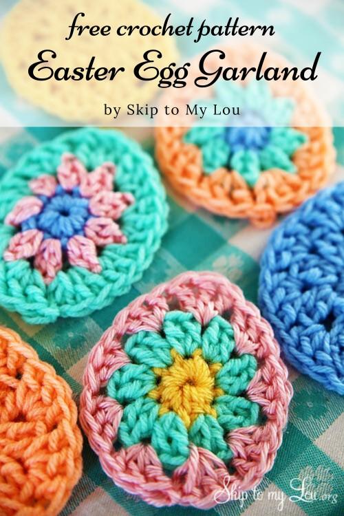 Free Crochet Pattern Easter Egg Garland