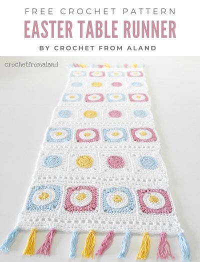 Free Crochet Pattern Easter Table Runner