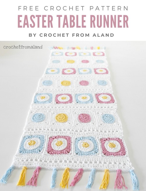 Free Crochet Pattern Easter Table Runner