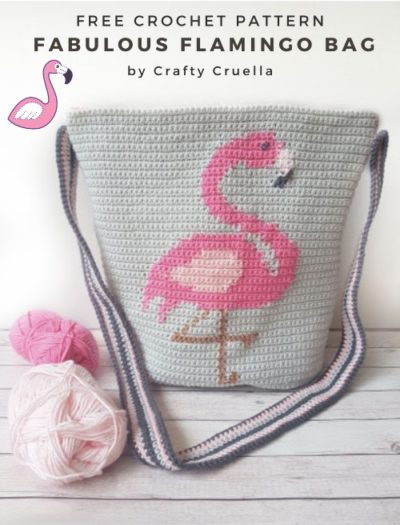 Free Crochet Pattern Fabulous Flamingo Bag