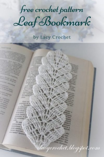 Free Crochet Pattern Leaf Bookmark