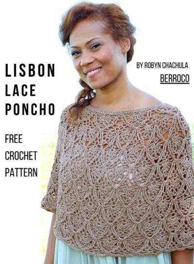 Free Crochet Pattern Lisbon Lace Poncho