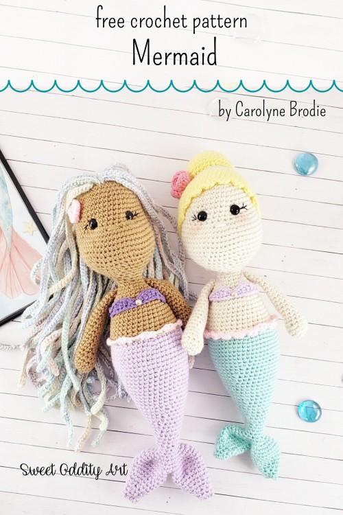 Free Crochet Pattern Mermaid