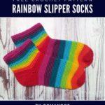 Free Crochet Pattern Rainbow Slipper Socks