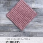 Free Crochet Pattern Ribbed Potholder