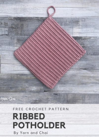 Free Crochet Pattern Ribbed Potholder