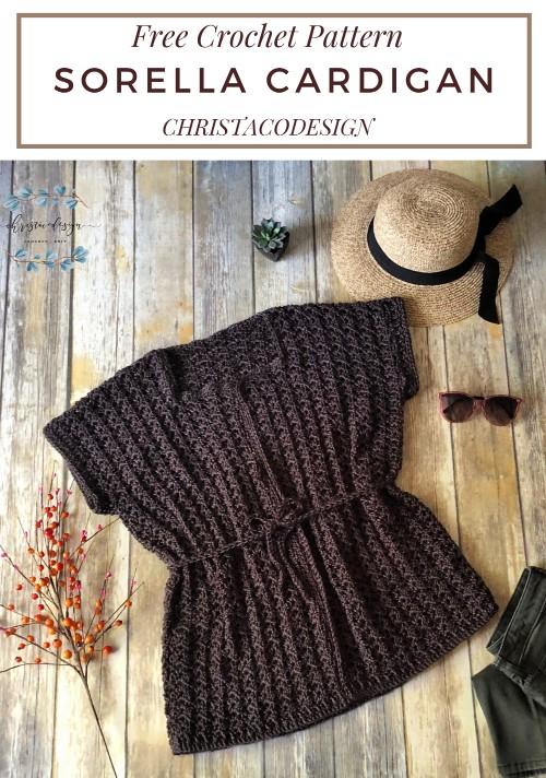 Free Crochet Pattern Sorella Cardigan
