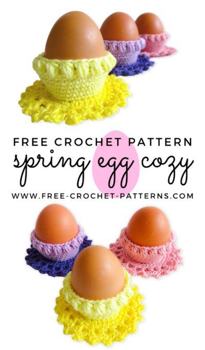 Free Crochet Pattern Spring Egg Cozy