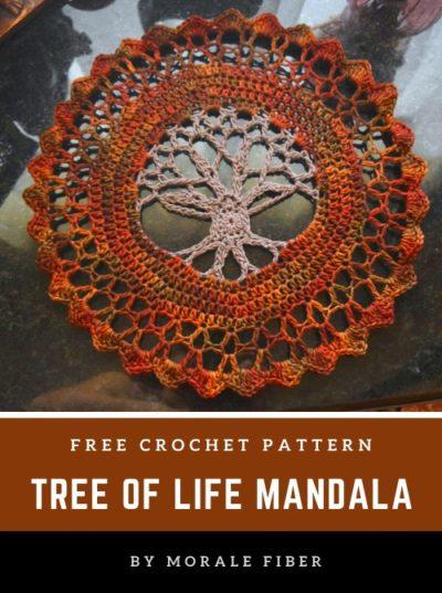 Free Crochet Pattern Tree of Life Mandala