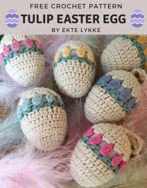Free Crochet Pattern Tulip Easter Egg