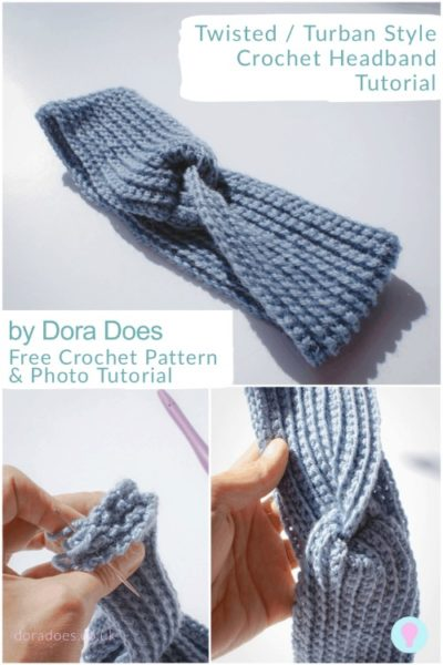 Free Crochet Pattern Twisted Headband