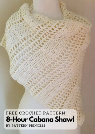 Free Crochet Pattern 8-Hour Cabana Shawl