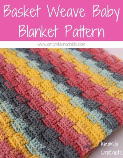 Free Crochet Pattern Basket Weave Baby Blanket