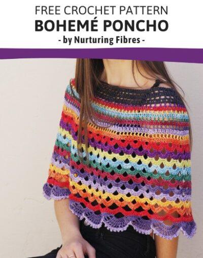 Free Crochet Pattern Boheme Poncho crochet
