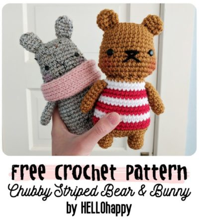 Free Crochet Pattern Chubby Striped Bear
