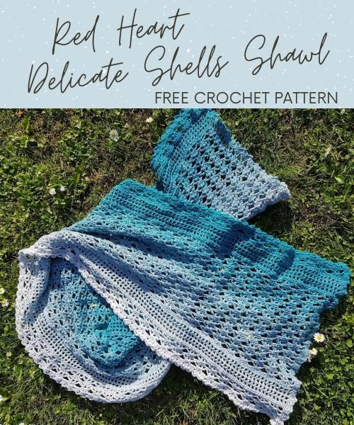Free Crochet Pattern Delicate Shells Shawl