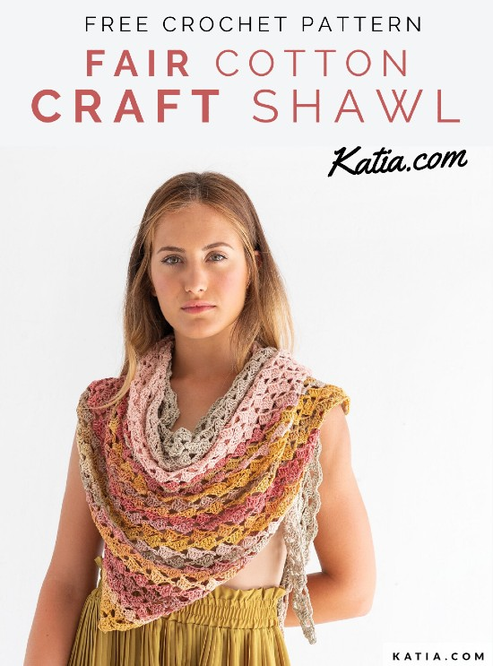 Free Crochet Pattern Fair Cotton Craft Shawl