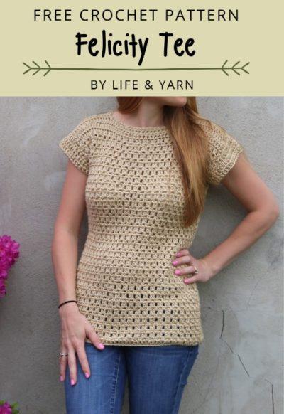 Free Crochet Pattern Felicity Tee