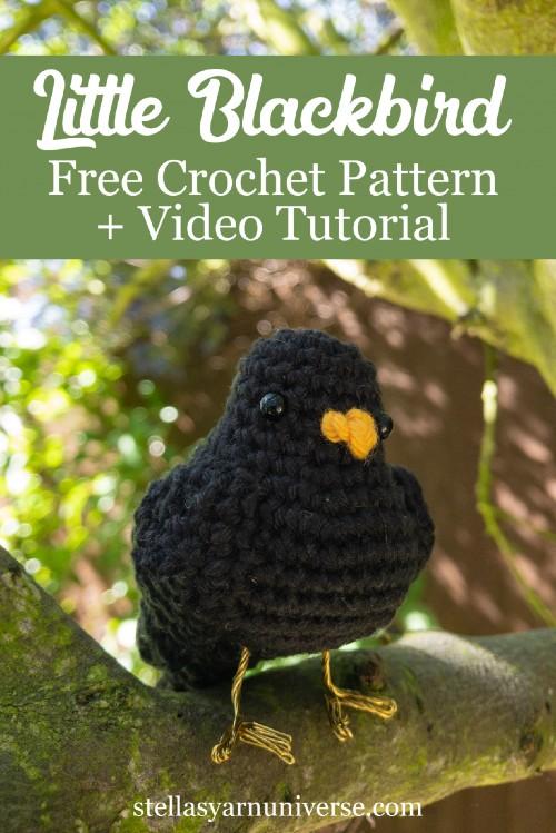 Free Crochet Pattern Little Blackbird