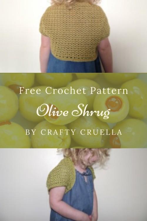 Free Crochet Pattern Olive Shrug