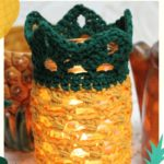 Free Crochet Pattern Pineapple Mason Jar Cover