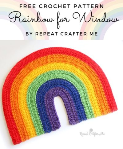 Free Crochet Pattern Rainbow for Window