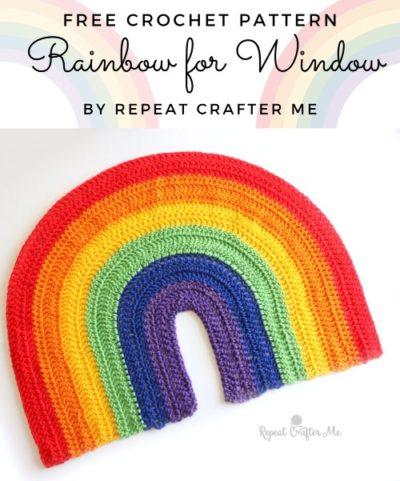 Free Crochet Pattern Rainbow for Window