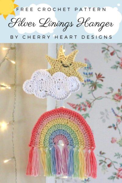 Free Crochet Pattern Silver Linings Hanger