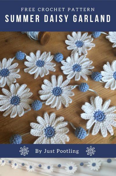 Free Crochet Pattern Summer Daisy Garland