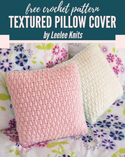 Free Crochet Pattern Textured Pillow Cover
