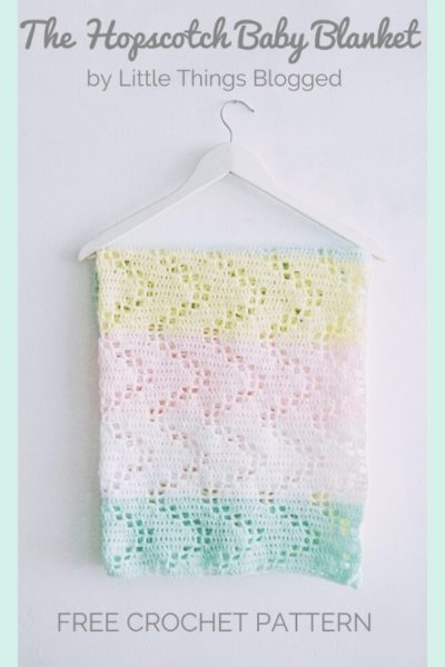 Free Crochet Pattern The Hopscotch Baby Blanket