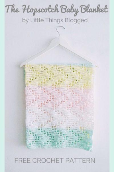 Free Crochet Pattern The Hopscotch Baby Blanket
