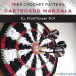 Free Crochet Pattern Dartboard Mandala