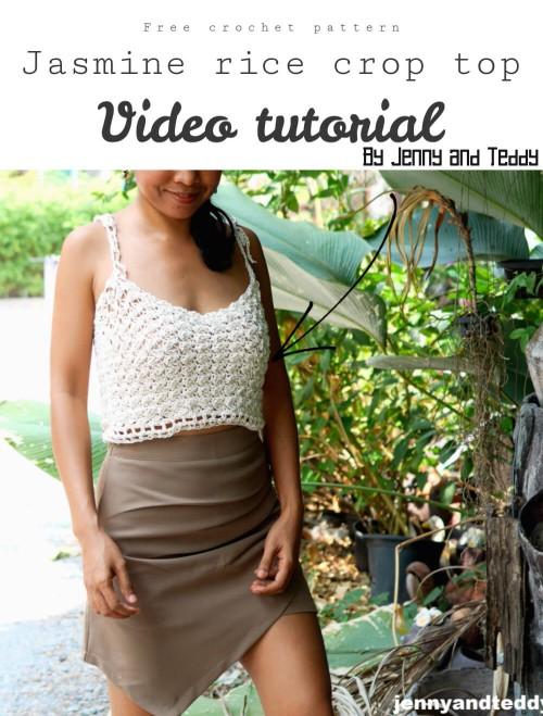 Free Crochet Pattern Jasmine Rice Crop Top