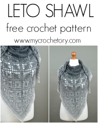 Free Crochet Pattern Leto Shawl