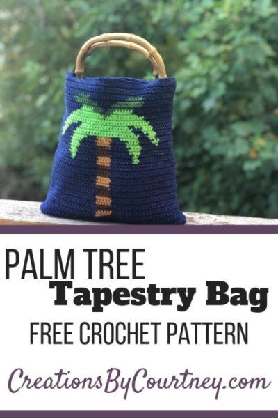 Free Crochet Pattern Palm Tree Tapestry Bag