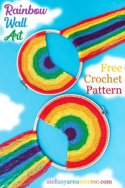 Free Crochet Pattern Rainbow Wall Hanging