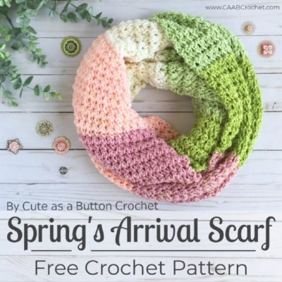 Free Crochet Pattern Spring's Arrival Scarf