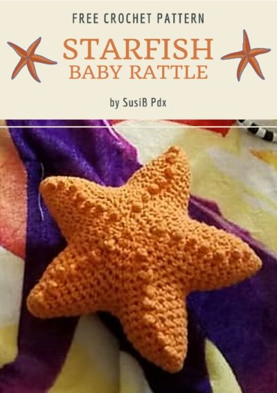 Free Crochet Pattern Starfish Baby Rattle