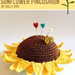 Free Crochet Pattern Sunflower Pincushion