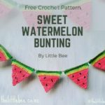 Free Crochet Pattern Sweet Watermelon Bunting