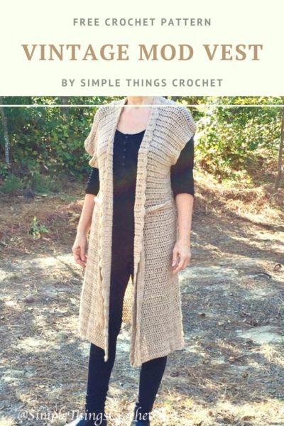 Free Crochet Pattern Vintage Mod Vest