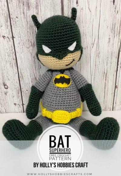 Free Crochet Pattern Bat Superhero crochet