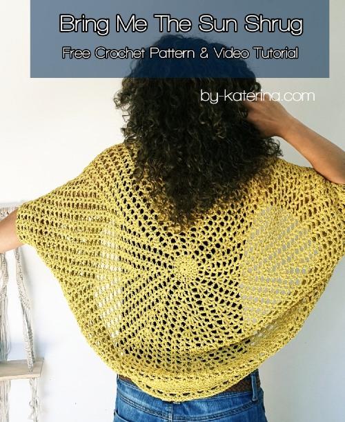 Free Crochet Pattern Bring Me The Sun Shrug