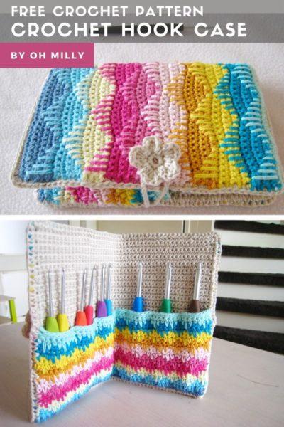 Free Crochet Pattern Crochet Hook Case
