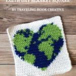 Free Crochet Pattern Earth Day Blanket Square