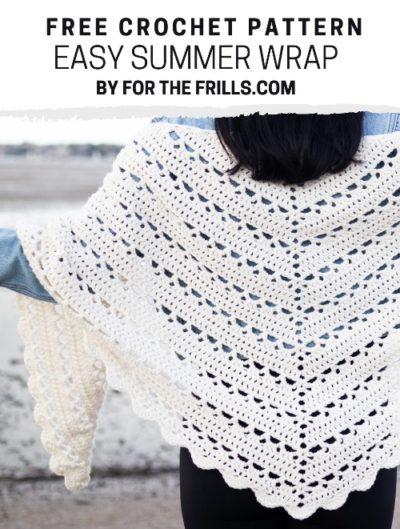 Free Crochet Pattern Easy Summer Wrap