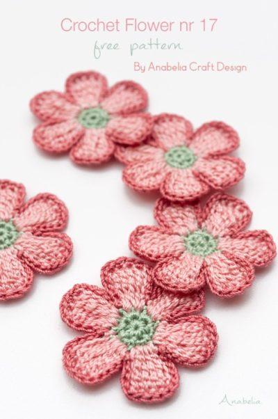 Free Crochet Pattern Flower nr 17