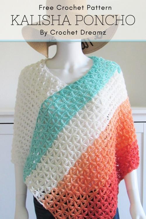 Free Crochet Pattern Kalisha Poncho