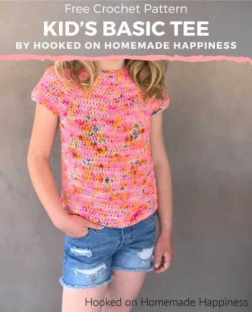Free Crochet Pattern Kid's Basic Tee